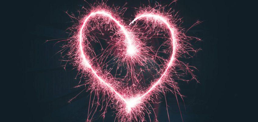 Herz aus Wunderkerze