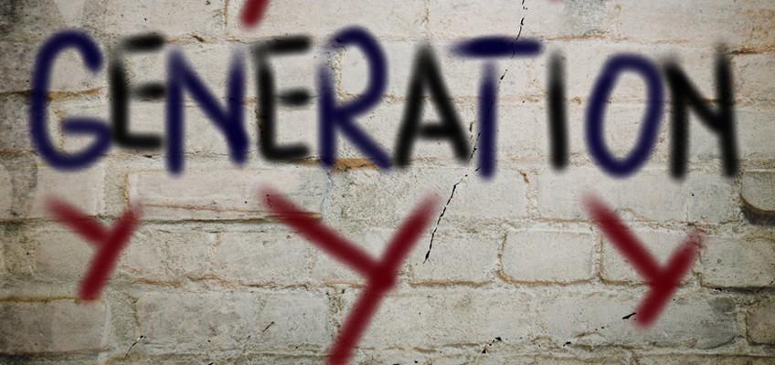 Schriftzug Generation Y auf Wand