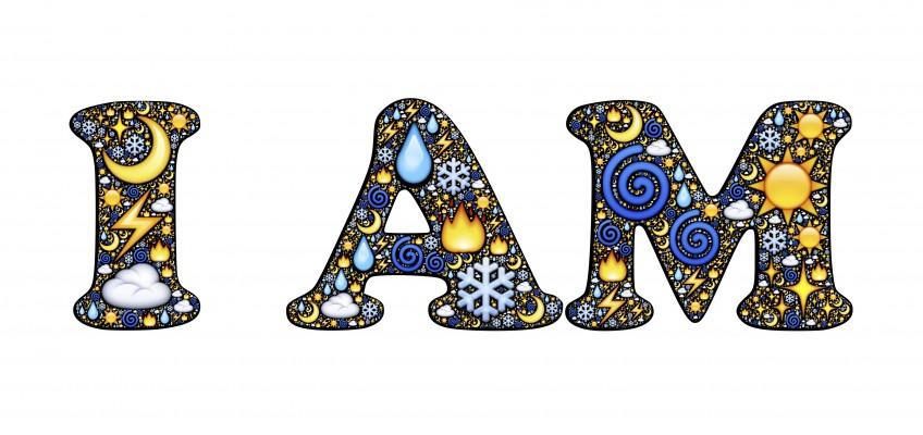 Schriftzug I AM