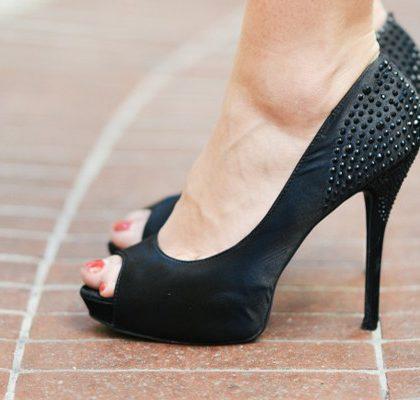 Füße in High Heels