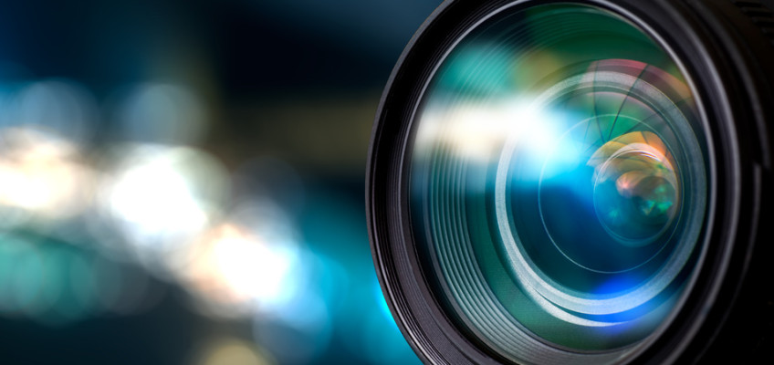 Nahaufnahme Videoobjektiv