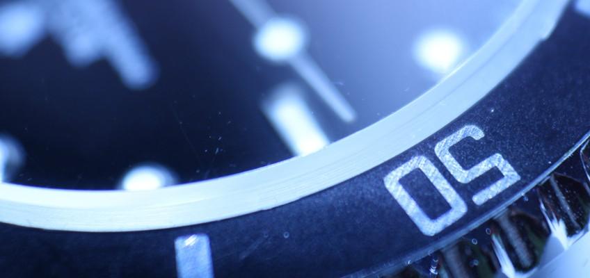 Nahaufnahme von Armbanduhr