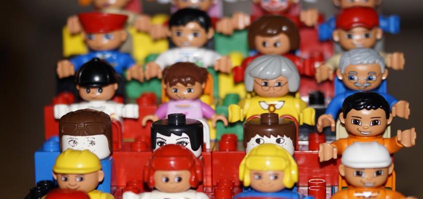 Vielfalt von Playmobilfiguren