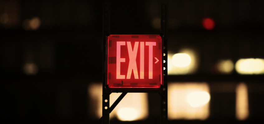 beleuchtetes Exit-Schild