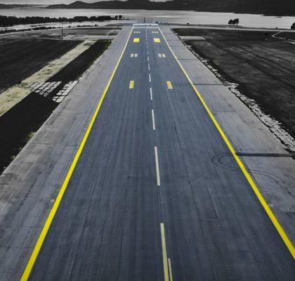 Landebahn Flughafen