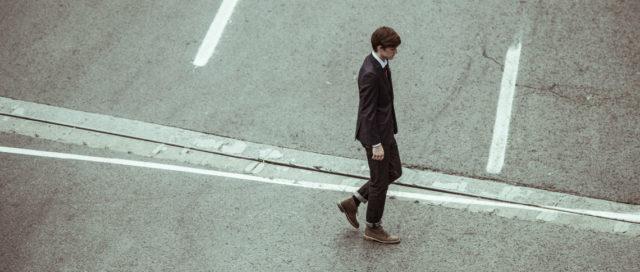 Mann auf Straße