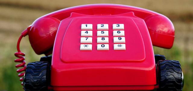 Rotes Kindertelefon