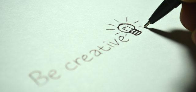 Schriftzug Be Creative