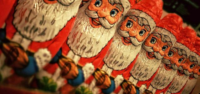Weihnachtsmänner aus Schokolade