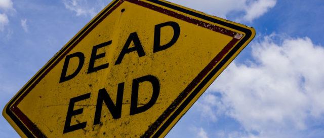 Verkehrsschild Dead End