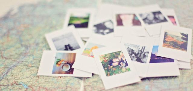 Fotos auf Landkarte