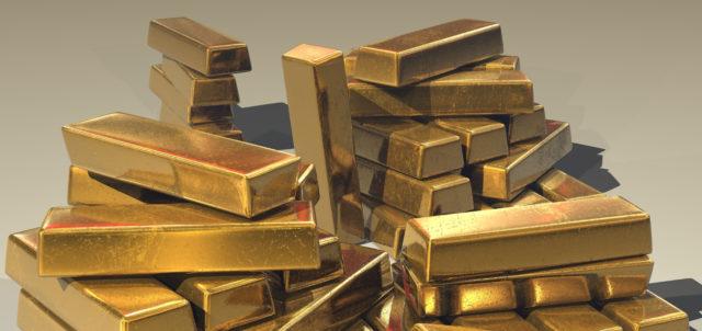 Ein Berg Goldbarren
