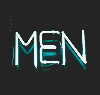 Leuchtschrift Men