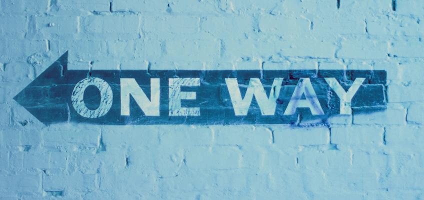 Schriftzug One Way