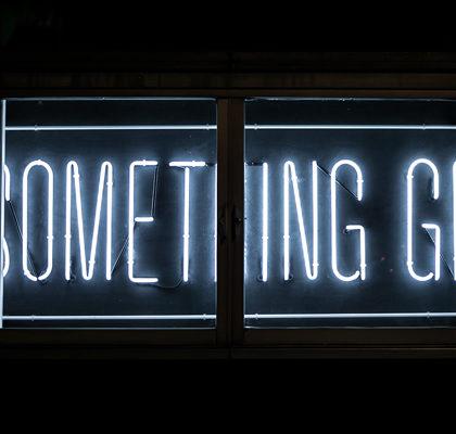 Schriftzug do something great