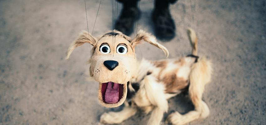 Hunde-Marionette