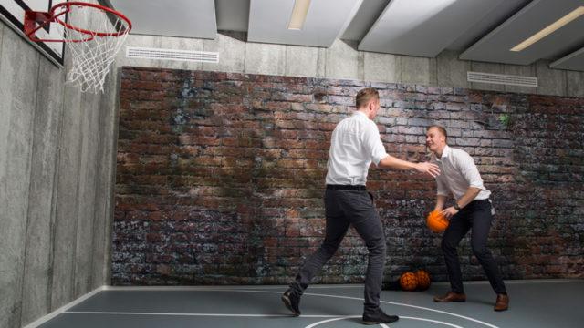 Basketballfeld bei AXA