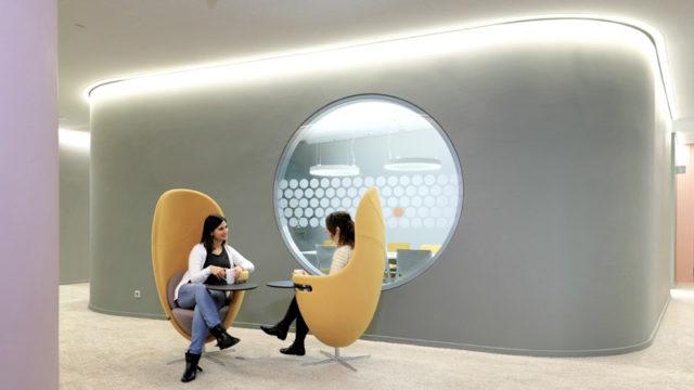 Clever abgetrennte Bereich mit funktionalen Möbeln bei OTTO