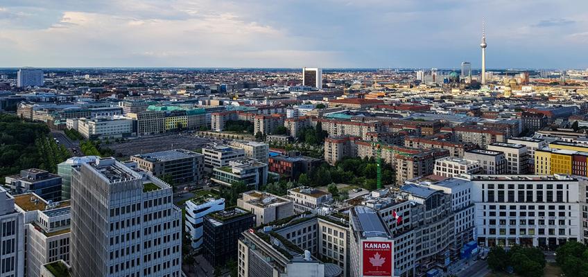 Luftaufnahme von Berlin